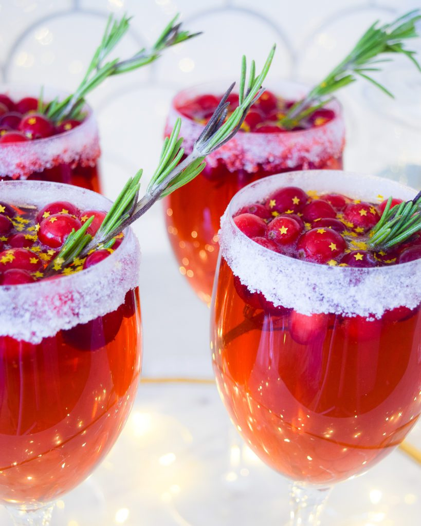 best holiday drinks cranberry champagne cocktail recipe
