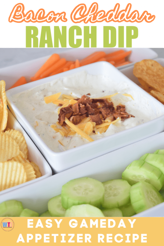 bacon cheddar ranch dip easy gameday appetizer recipe