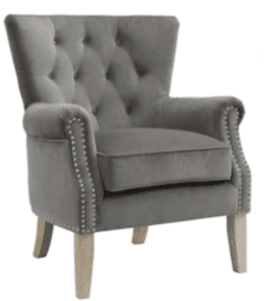 gray twill wingback arm chair farmhouse style