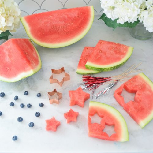 star shaped watermelon for fruit kabobs