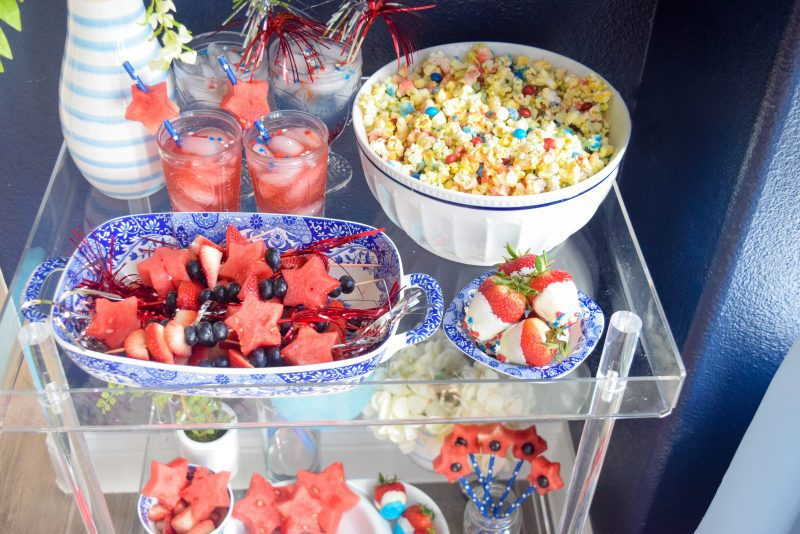 patriotic red white and blue appetizers for july 4th