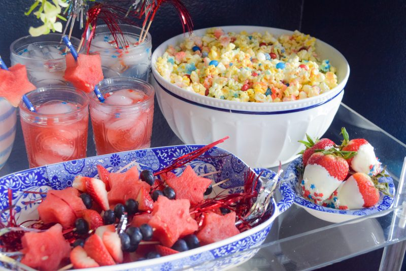 Popular patriotic red white and blue recipe roundup
