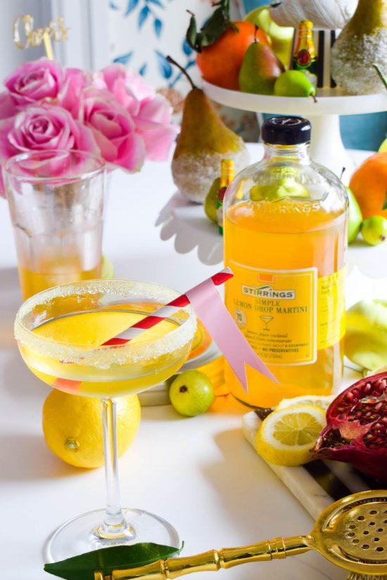 lemon drop martini mix cocktail drink recipe