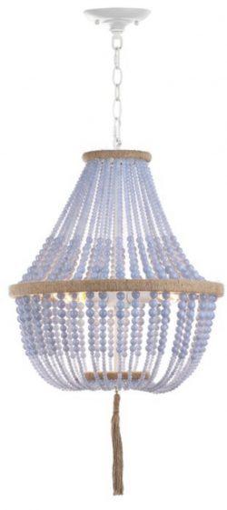 Mistana Leyva 3 - Light Lantern Empire Chandelier with Beaded Accents - coastalliving chandeliers