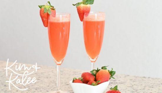 easy strawberry mimosa drink recipe