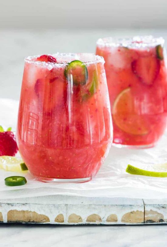 strawberry jalepeno margarita recipe best cocktails for happy hour
