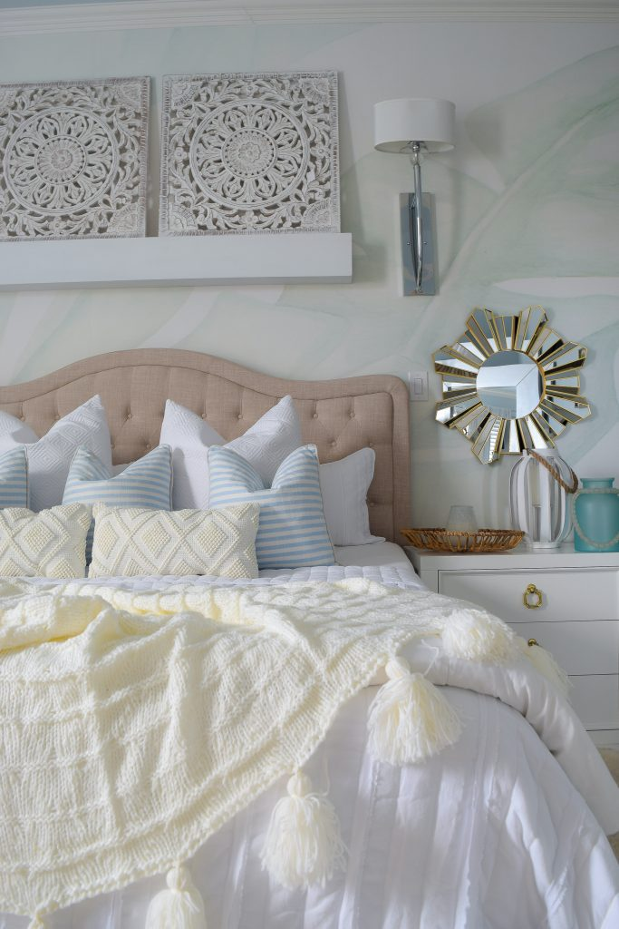 modern coastal bedroom for summer