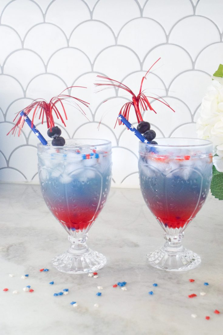 how to make red white and blue drink