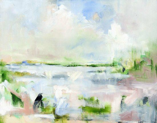 Danielle Cather Cohen Art Lake Pastel - coastal artwork