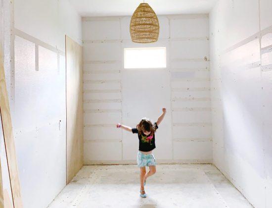 master closet demo for one room challenge week three