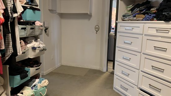 master closet renovation before photos one room challenge