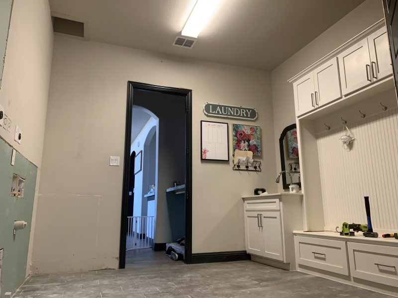 laundry room mudroom renovation one room challenge