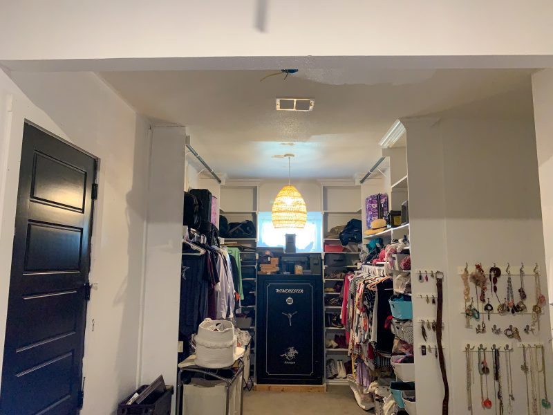 master closet renovation before photos one room challenge
