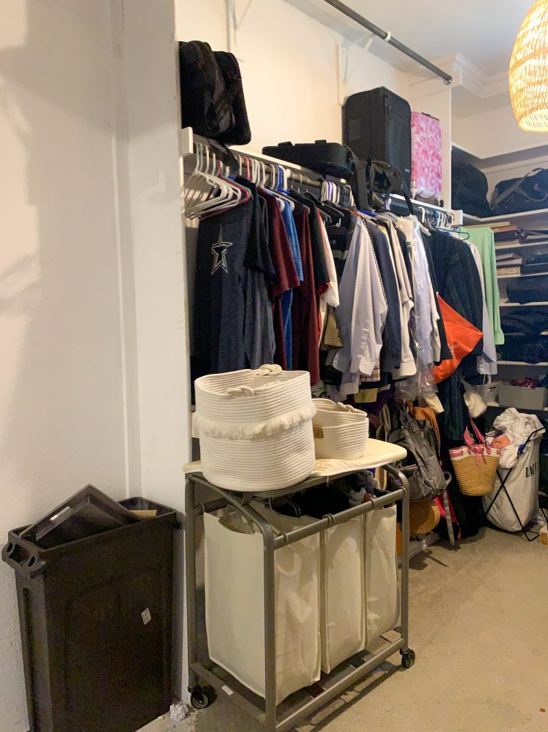 master closet before photo for one room challenge