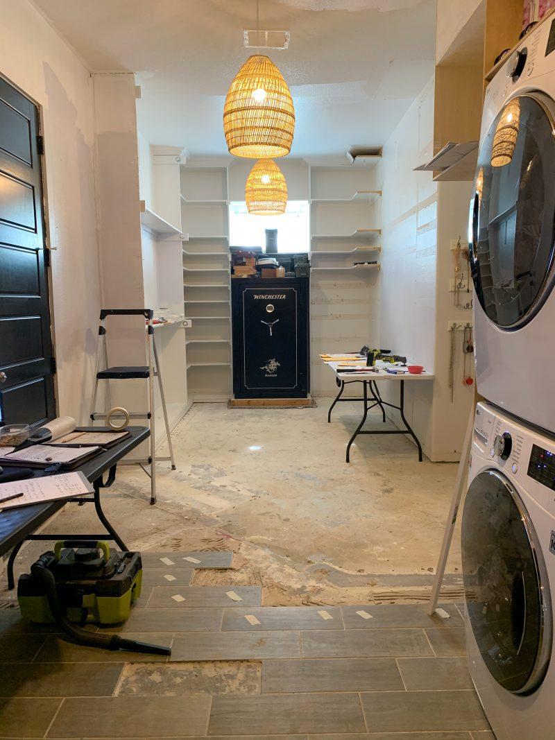 master closet renovation before photos