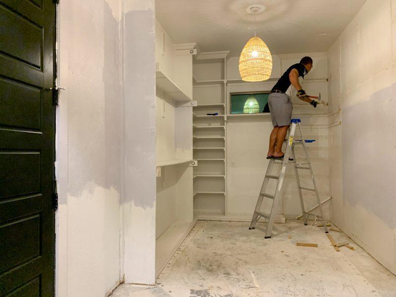 master closet demolition for one room challenge