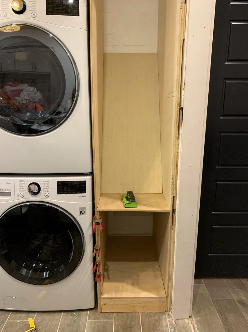 laundry shoot in laundry room