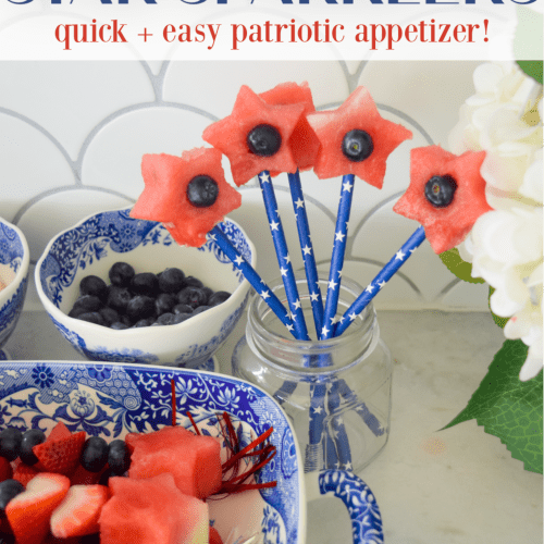 watermelon star sparklers easy patriotic appetizer