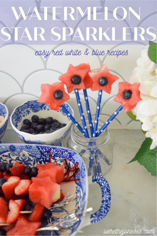 watermelon star sparklers easy red white blue recipe
