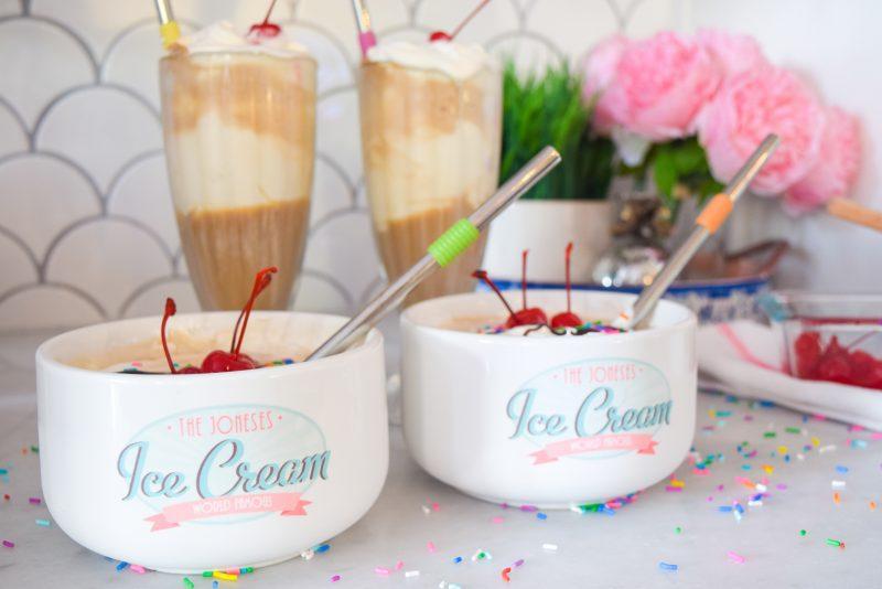 Root Beer Ice Cream Sundae Bowl