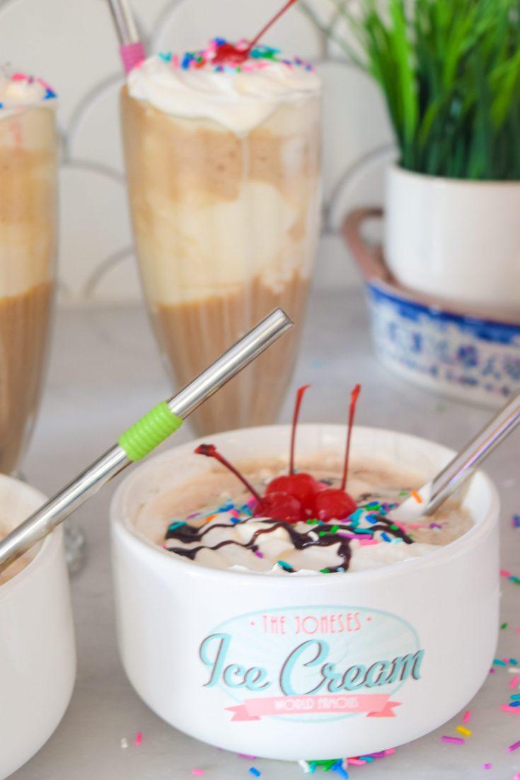 Ice Cream Sundae Float Bowl