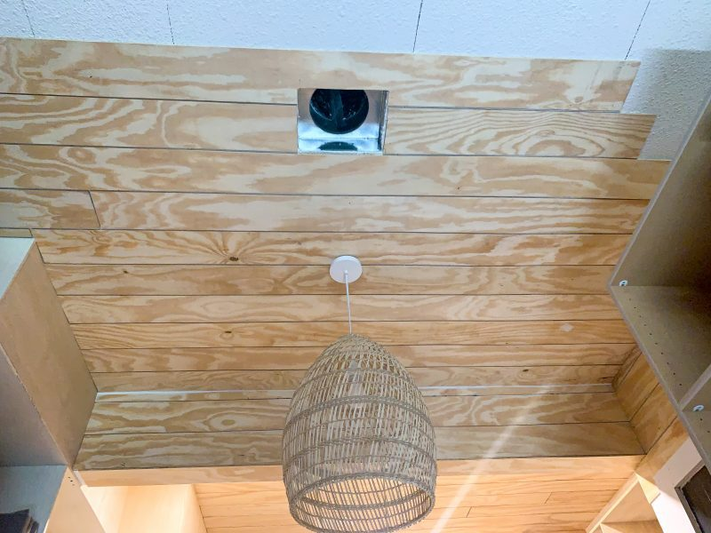 diy faux shiplap ceiling how to miter cut shiplap
