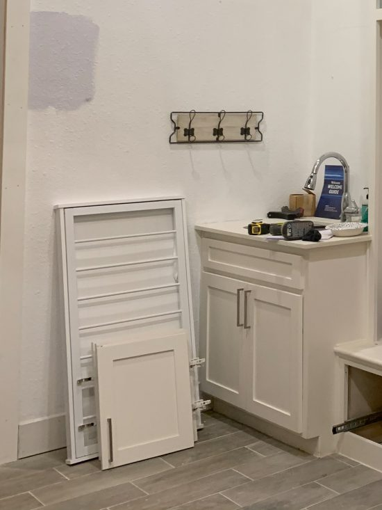 before and after: laundry room farmhouse sink