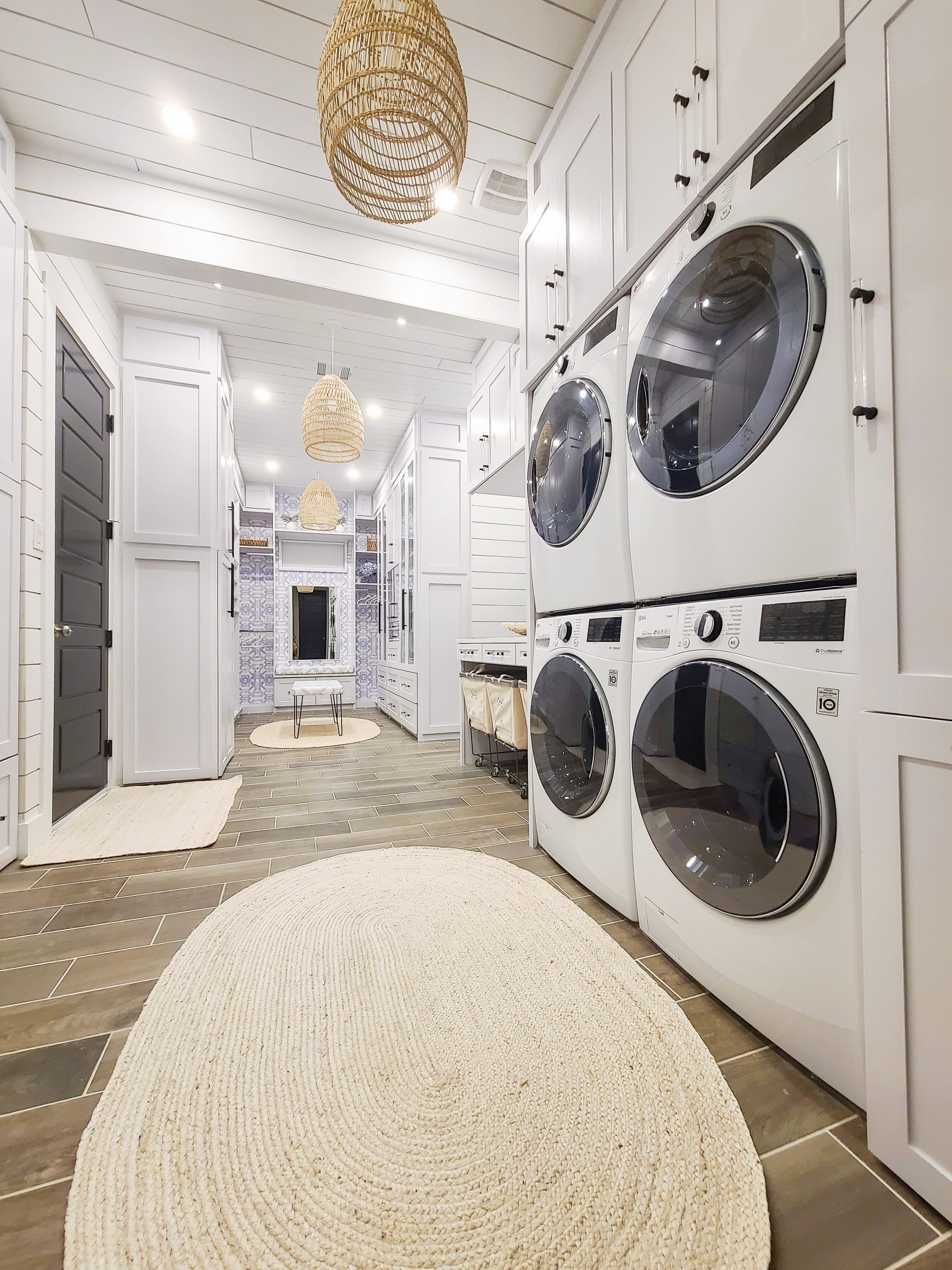 master closet attached to laundry room