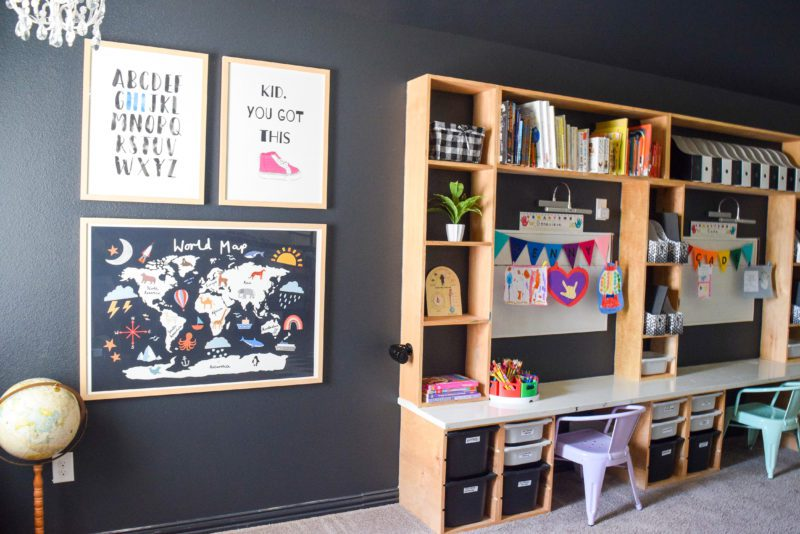 home learning space for kids