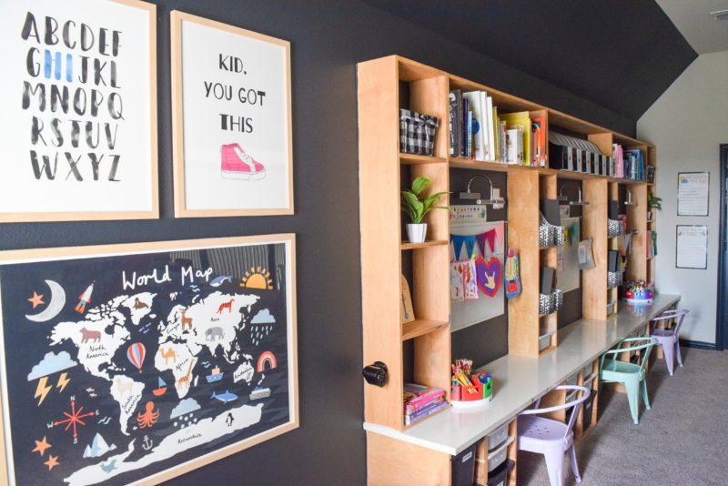 homeschool room setup ideas