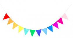 Pre-Assembled Rainbow Felt Fabric Banner Multicolor Bunting