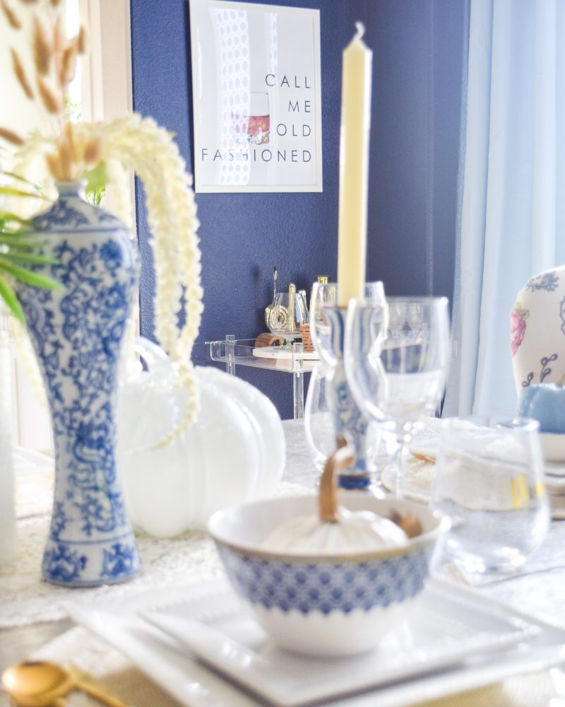 chinoiserie chic fall table