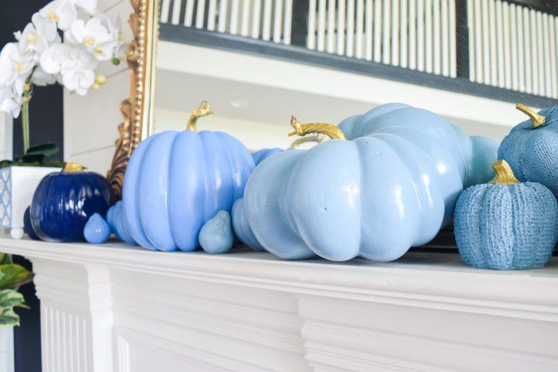 Ombre blue pumpkins