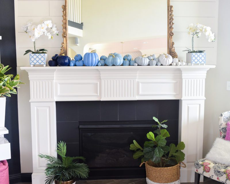 How do I decorate my mantel in the fall?