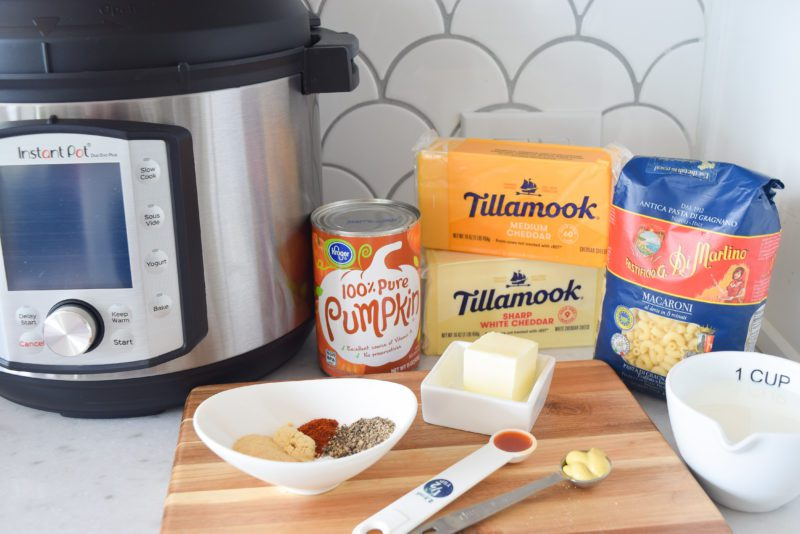 instant pot pumpkin mac and cheese ingredients