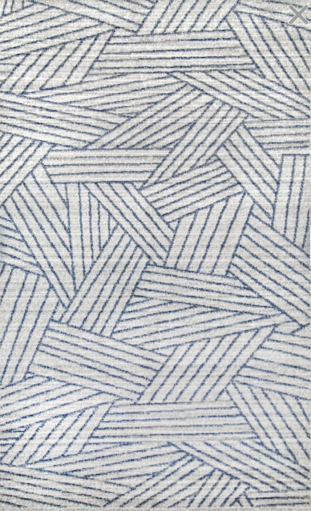 Blue stripes modern coastal rug