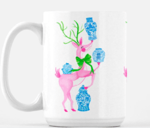 ginger jar chinoiserie coffee mug