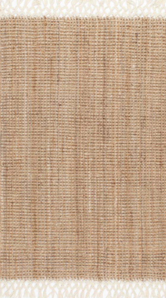 natural hand woven jute rug