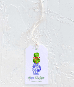 chinoiserie christmas gift tags