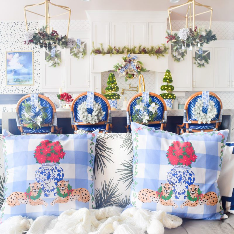 How can I decorate my kitchen for Christmas?