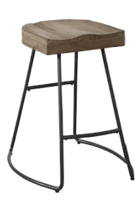 metal and wood counter stool
