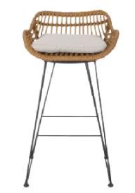 wicker bar stool with cushion