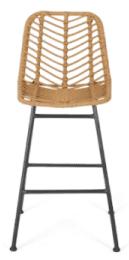 coastal wicker bar stool
