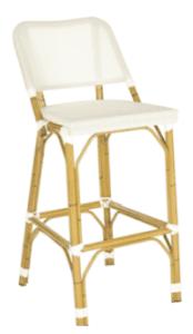 white wicker bar stool