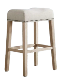 backless upholstered counter stool