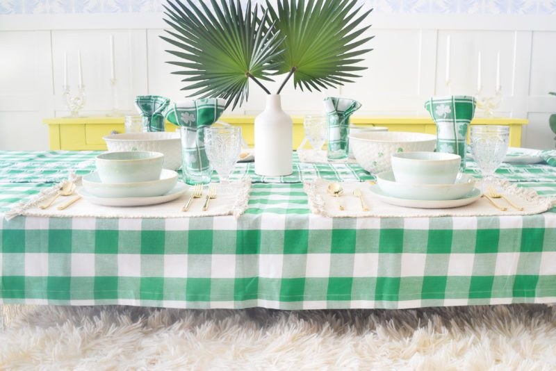st patrick's day table setting ideas
