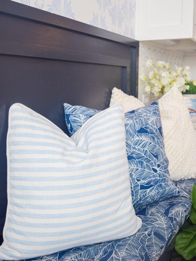 coastal blue and white pillows