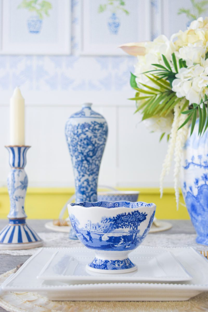 chinoiserie chic table decor and dishes