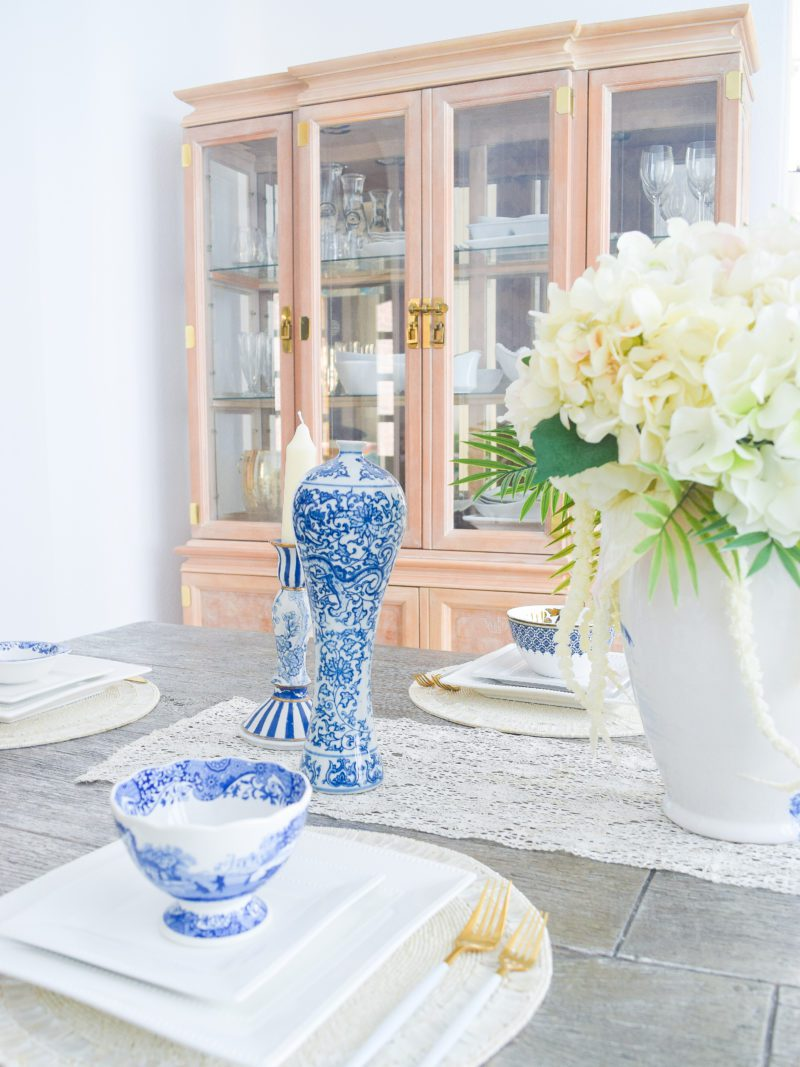 chinoiserie blue and white dishes