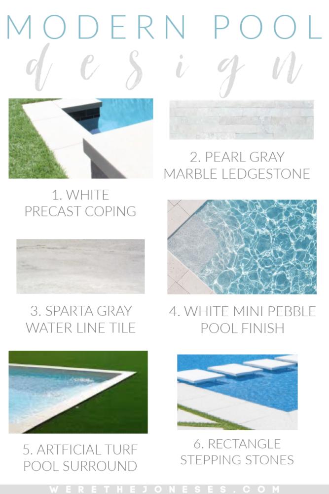 white precast coping white mini pebble pool finish gray pool tile artificial turf around pool